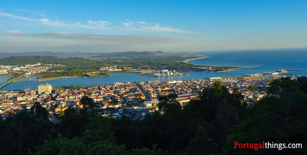 Vista de Santa luzia, uma das coisas a não perder em Viana do Castelo