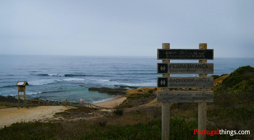 Empa beach, a typical surfers beach