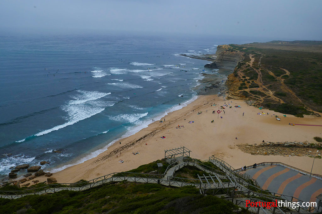 Ribeira d'ilhas is the most famous of the beaches in the world surfing reserve