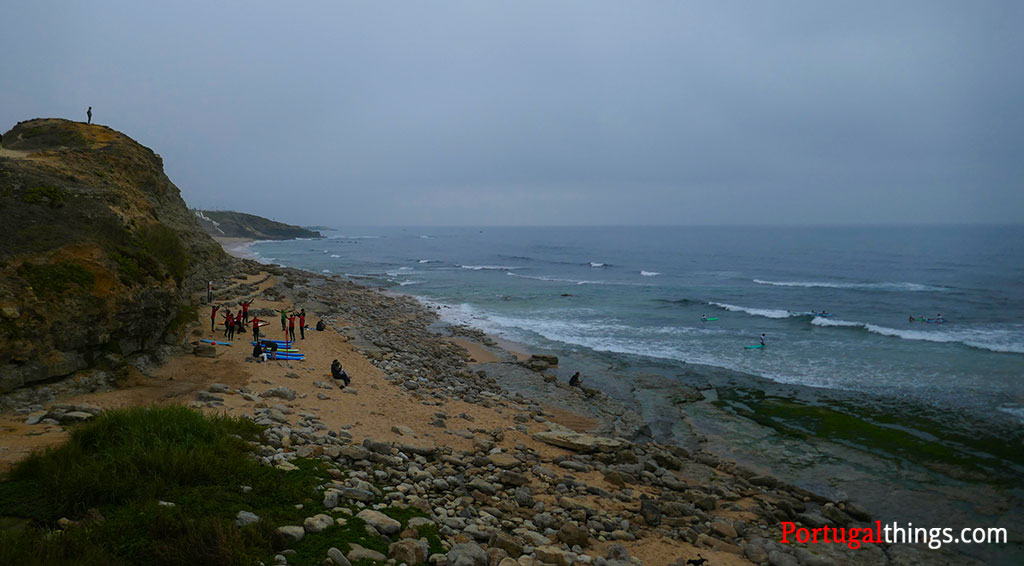 not too sandy beach in Ericeira