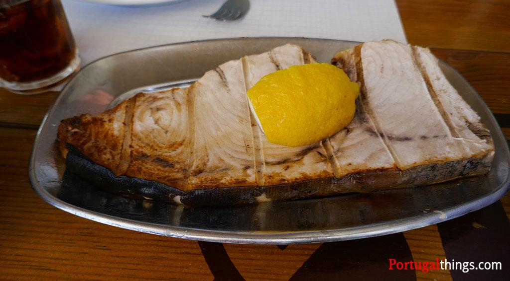 Eating in Algarve - Swordfish